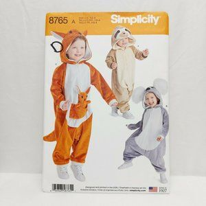 SIMPLICITY   SIZES 1/2-4 PATTERN 8765 A COSTUMES M